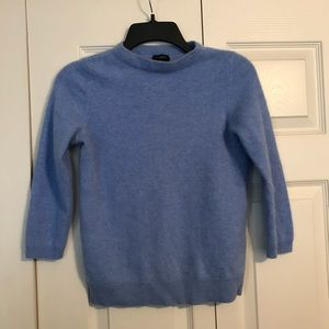 TALBOTS Small Pure Cashmere Sweater Blue